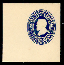 U330 5c Blue on White, die 1, Mint Full Corner, 50 x 50
