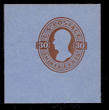 U339 30c Red Brown on Blue, Mint Full Corner, 50 x 50