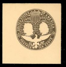 U351 10c Slate Brown on White, Mint Full Corner