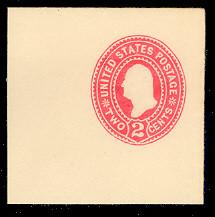 U358 2c Carmine on White, die 1, Mint Full Corner, 50 x 50