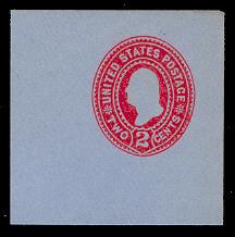 U361 2c Carmine on Blue, die 1, Mint Full Corner, 50 x 50