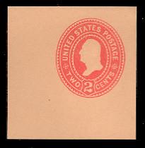 U364 2c Carmine on Oriental Buff, die 2, Mint Cut Square