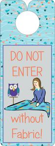 FQG303 Knobie Talk Door Hanger-DNEWO Fabric