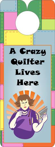 FQG306 Knobie Talk Door Hanger-Crazy Quilter