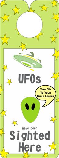 FQG311 Knobie Talk Door Hanger-UFO