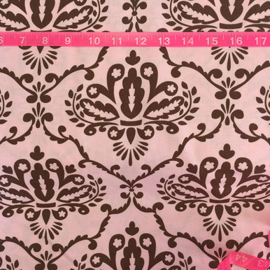 Leanika by Dena Pink and Brown Damask
