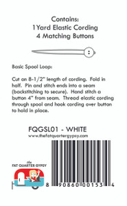 FQGSL01 Spool Loops White