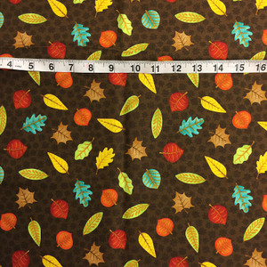 1 yd Fall Fun by Wilmington Print - Brown Leaves