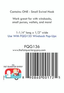 "FQG136 Small Swivel Hook 1.25"" x .5"""