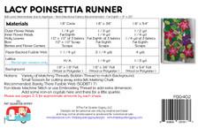 FQG402 Lacy Poinsettia Runner
