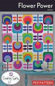 Flower Power Quilt Pattern - PDF Printable