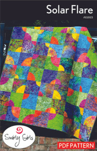 Solar Flare Quilt Pattern - PDF Printable