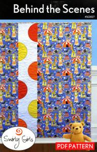 Behind The Scenes Quilt Pattern - PDF Printable