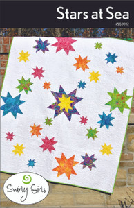 Stars at Sea Quilt Pattern - PDF Printable