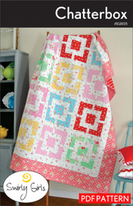 Chatterbox Quilt Pattern - PDF Printable