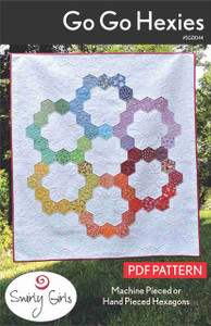 Go Go Hexies Quilt Pattern - PDF Printable