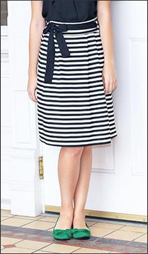 Black/White Horizontal Stripe Skirt