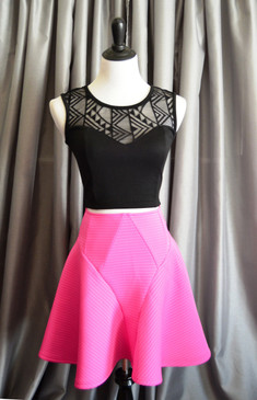 Hot Pink A-line Skirt   (Top sold separately)