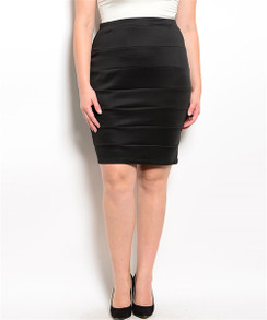 Bandage Style Black Mini Skirt