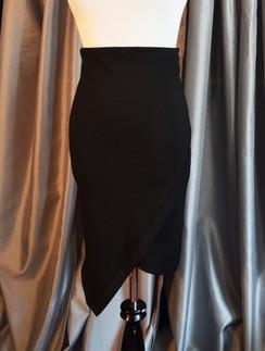 Faux Wrap Pencil Skirt