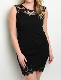 Black Lace Trime Dress