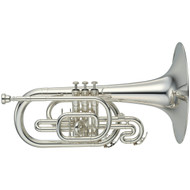 YAMAHA YMP-204MS Marching F Silver Plated Mellophone