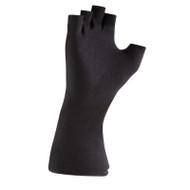 Black Long-wristed Cotton (fingerless) Gloves
