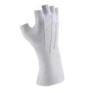 White Long-wristed Cotton (fingerless) Gloves