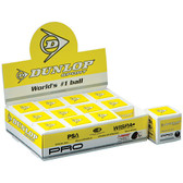 Dunlop Pro - Double Yellow Dot Squash Balls