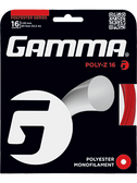 Gamma Poly Z Tennis String Set-16G-Red