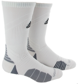 Adidas Traxion Menace Crew Team Sock-White/Black/Light Onix/Onix
