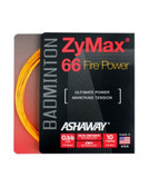 Ashaway ZyMax 66 Fire Power Badminton String Set-Fire Orange