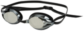 Leader Zenith Narrow Swimming Goggles - Silver Mirror/Black
