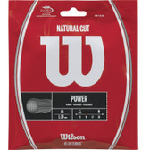 Wilson Natural Gut 16G Tennis String Set - Natural