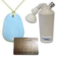 Ewater Personal Protection Package includes EP2 Pendant, Revitalizing Shower Filter, & EMR Protection Patch