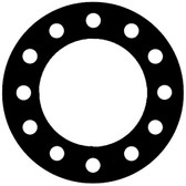 NSF-61 Certified EPDM, Full Face Gasket, Pipe Size: 6(6) Inches (15.24Cm), Thickness: 1/8(0.125) Inches (3.175mm), Pressure Tolerance: 300psi, Inner Diameter: 6 5/8(6.625)Inches (16.8275Cm), Outer Diameter: 12 1/2(12.5)Inches (31.75Cm), With 12 - 7/8(0.875) (2.2225Cm) Bolt Holes, Part Number: CFF384-08.600.125.300