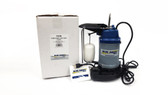 """F33S 1/3 Blue Angel HP """"Professional Series"""" Submersible Cast Iron Sump Pump, Black/Blue/White, Part Number: BASPF33S"""