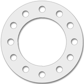 1501 Style Expanded PTFE (soft) Full Face Gasket For Pipe Size: 8(8) Inches (20.32Cm), Thickness: 1/8(0.125) Inches (0.3175Cm), Pressure: 300# (psi). Part Number: CFF1501.800.125.300