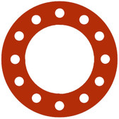 7175 Style Silicone 50-60 Durometer Full Face Gasket For Pipe Size: 8(8) Inches (20.32Cm), Thickness: 1/8(0.125) Inches (0.3175Cm), Pressure: 300# (psi). Part Number: CFF7175.800.125.300
