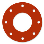 7175 Style Silicone 50-60 Durometer Full Face Gasket For Pipe Size: 8(8) Inches (20.32Cm), Thickness: 1/8(0.125) Inches (0.3175Cm), Pressure: 150# (psi). Part Number: CFF7237.800.125.150