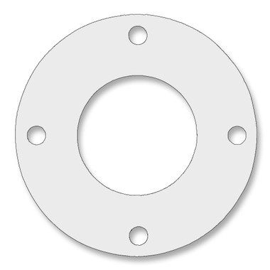 7530 Style PTFE, Virgin PTFE Full Face Gasket For Pipe Size: 1 1/4(1.25) Inches (3.175Cm), Thickness: 1/16(0.0625) Inches (0.15875Cm), Pressure: 150# (psi). Part Number: CFF7530.1250.062.150