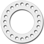 7530 Style PTFE, Virgin PTFE Full Face Gasket For Pipe Size: 18(18) Inches (45.72Cm), Thickness: 1/32(0.03125) Inches (0.079375Cm), Pressure: 300# (psi). Part Number: CFF7530.1800.031.300
