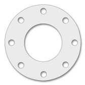 7530 Style PTFE, Virgin PTFE Full Face Gasket For Pipe Size: 4(4) Inches (10.16Cm), Thickness: 1/8(0.125) Inches (0.3175Cm), Pressure: 150# (psi). Part Number: CFF7530.400.125.150