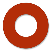 7237 Style Red Rubber Ring Gasket For Pipe Size: 1(1) Inches (2.54Cm), Thickness: 1/16(0.0625) Inches (0.15875Cm), Pressure: 300# (psi). Part Number: CRG7237.100.062.300