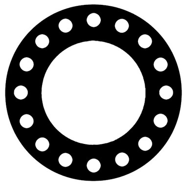 7157 EPDM 60 Durometer Full Face Gasket For Pipe Size: 18(18) Inches (45.72Cm), Thickness: 1/32(0.03125) Inches (0.079375Cm), Pressure: 300# (psi). Part Number: CFF7157.1800.031.300