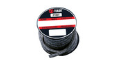 Teadit Style 2103T Braided Packing Carbon Yarn, PTFE Impregnated Packing,  Width: 1 (1) Inches (2Cm 5.4mm), Quantity by Weight: 25 lb. (11.25Kg.) Spool, Part Number: 2103T.100x25
