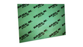 7001 Green Aramid Fibers/NBR Non-Asbestos Compressed Sheet, Dimensions: Length: 59.5 Inches (151.13Cm), Width: 63 Inches (160.02Cm), Thickness: 1/32(0.03125) Inches (0.079375Cm) Part Number: GS700103160X60
