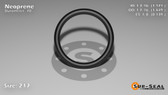 O-Ring, Black Neoprene Size: 217, Durometer: 70 Nominal Dimensions: Inner Diameter: 1 13/76(1.171) Inches (2.97434Cm), Outer Diameter: 1 22/49(1.449) Inches (3.68046Cm), Cross Section: 5/36(0.139) Inches (3.53mm) Part Number: OR70BLKNEO217