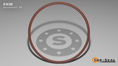 O-Ring, Brown Viton/FKM Size: 433, Durometer: 75 Nominal Dimensions: Inner Diameter: 5 19/40(5.475) Inches (13.9065Cm), Outer Diameter: 6 1/40(6.025) Inches (15.3035Cm), Cross Section: 11/40(0.275) Inches (6.99mm) Part Number: OR75BRNVI433