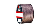 Teadit Style 2000 Braided Flexible Graphite Packing, Width: 1/4 (0.25) Inches (6.35mm), Quantity by Weight: 2 lb. (0.9Kg.) Spool, Part Number: 2000.250x2